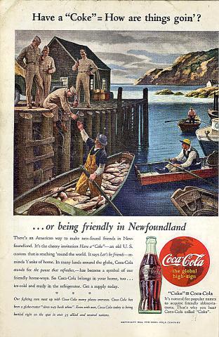 Coca-Cola: Newfoundland Vintage Ad