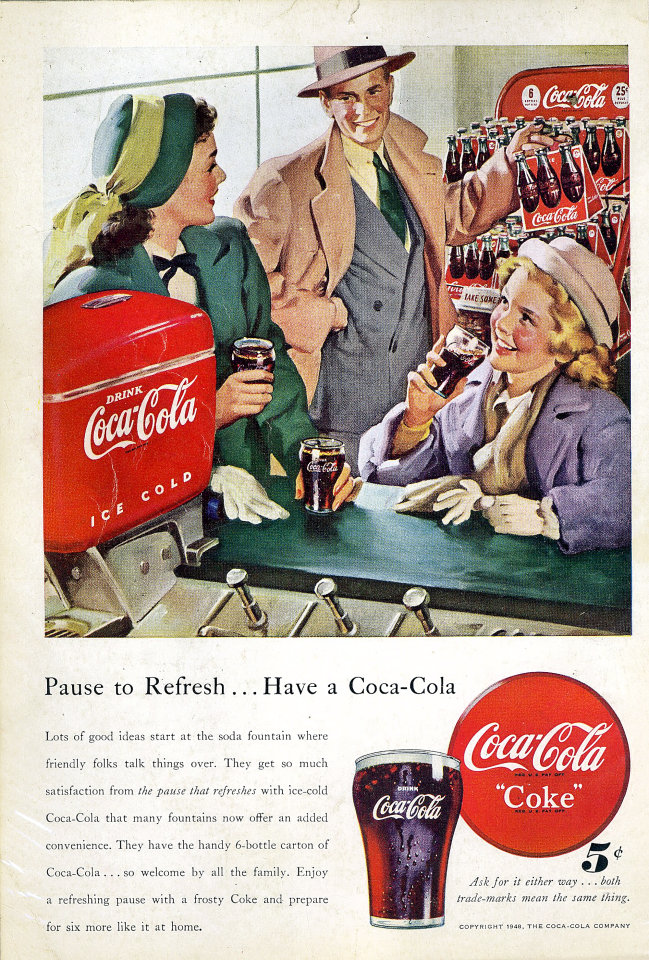 Genoeg Coca-Cola: Pause To RefreshHave A Coca-Cola Vintage Ad, 1948 at  @AX28