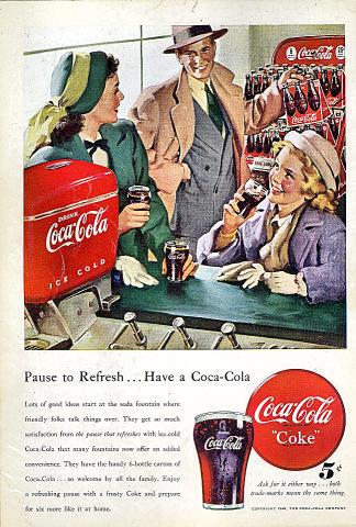 Coca-Cola: Pause To Refresh...Have A Coca-Cola Vintage Ad