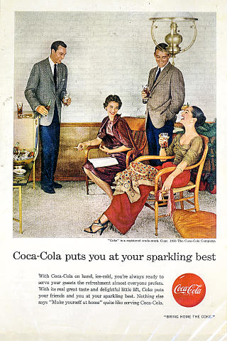 Coca-Cola: Puts You At Your Sparkling Best Vintage Ad