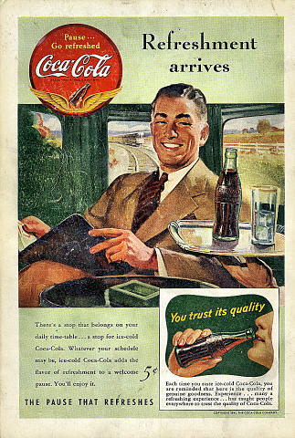 Coca-Cola: Refreshment Arrives Vintage Ad
