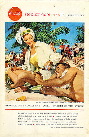Coca-Cola: Sign Of Good Taste...Everywhere - Cuba Vintage Ad