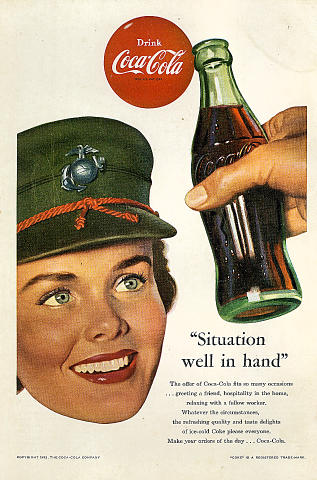 """Coca-Cola: """"Situation Well In Hand"""" Vintage Ad"""