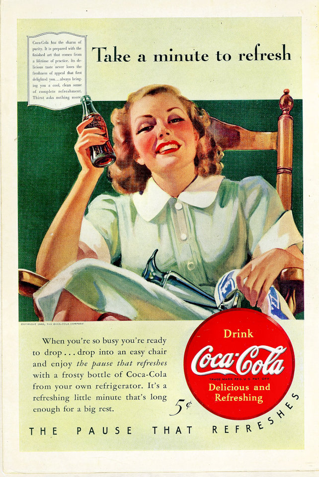 Coca Cola Take A Minute To Refresh Vintage Ad