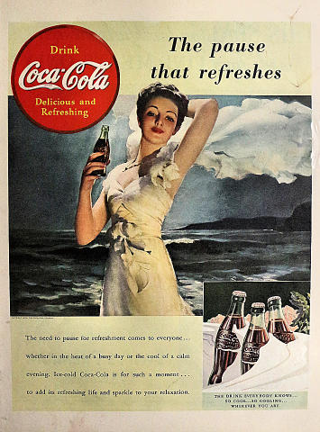 Coca-Cola: The Pause That Refreshes Vintage Ad