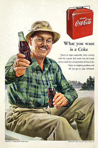 Coca-Cola: What You Want Is A Coke Vintage Ad