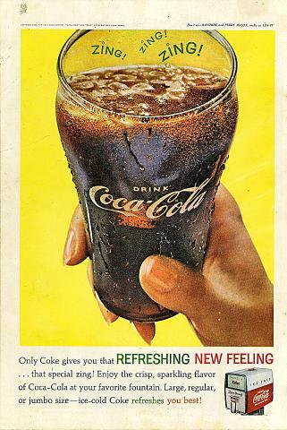 Coca-Cola: Zing! Zing! Zing! Vintage Ad