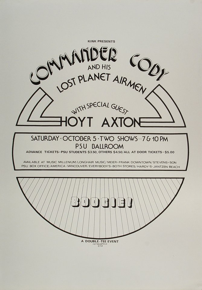 Commander Cody & His Lost Planet Airmen Poster