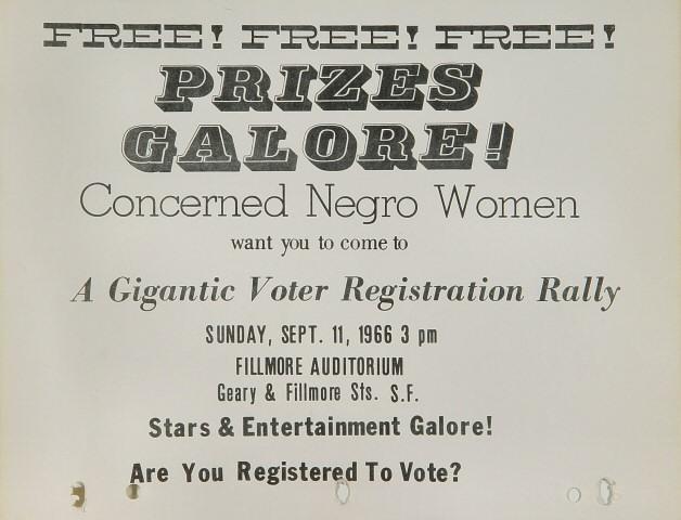 Concerned Negro Voter Registration Rally Handbill