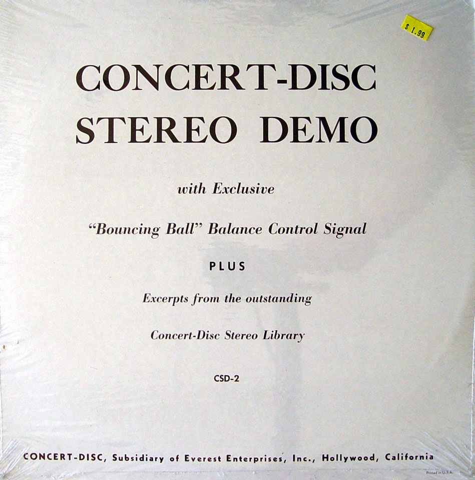 "Concert-Disc Stereo Demo Vinyl 12"" (New)"