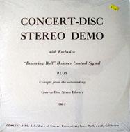 """Concert-Disc Stereo Demo Vinyl 12"""" (New)"""