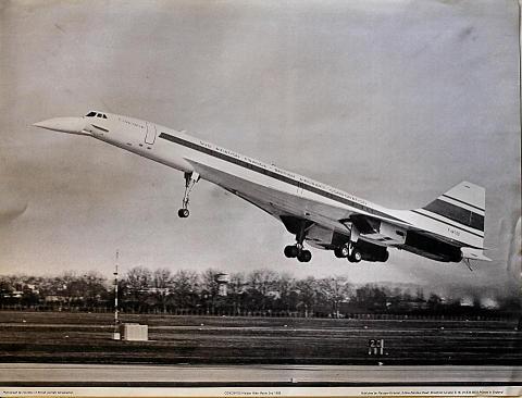 Concorde Maiden Flight Poster