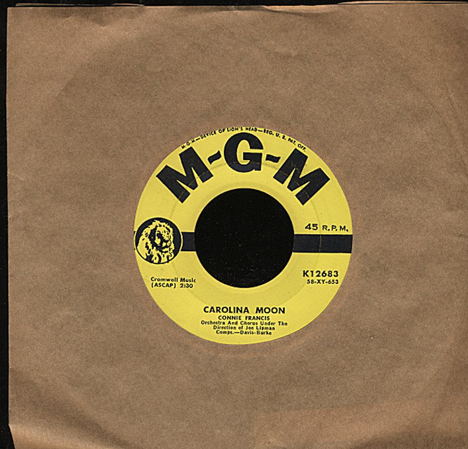 "Connie Francis Vinyl 7"" (Used)"