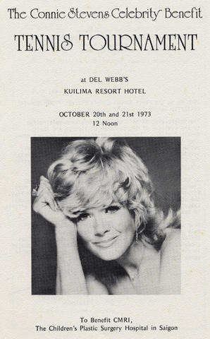 Connie Stevens Celebrity Benefit Tennis Tournament Program