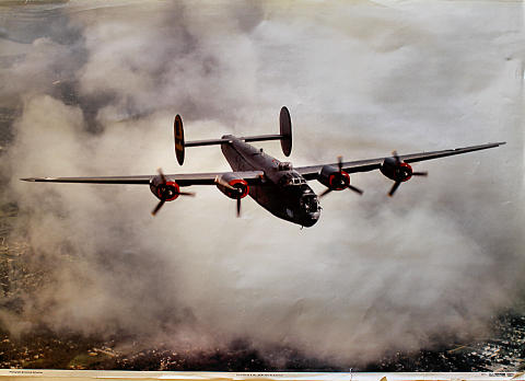 Consolidated B-24J Liberator 'All American' Poster