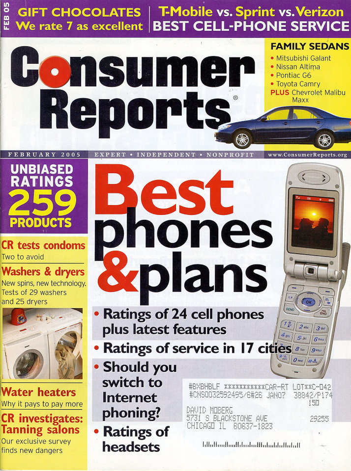 Consumer Reports Vol 70 No 2