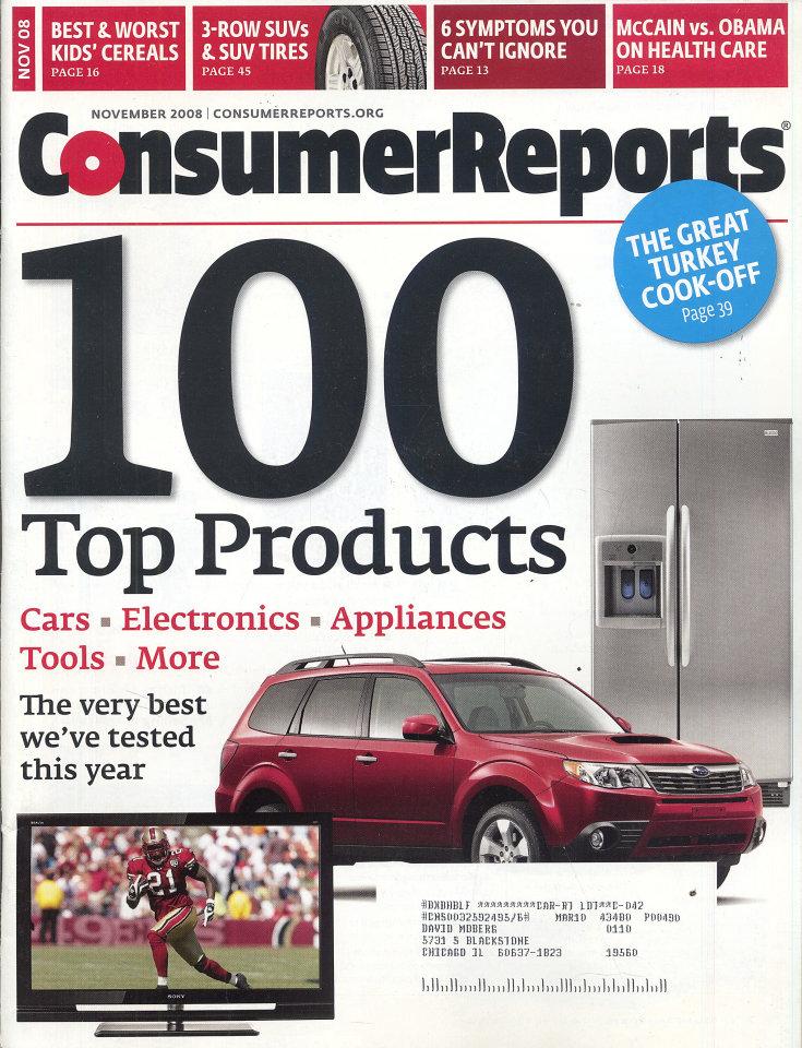 Consumer Reports Vol. 73 No. 11