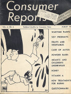 Consumer Reports Vol. 8 No. 8 Magazine