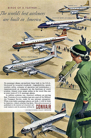 Convair: Birds Of A Feather... Vintage Ad
