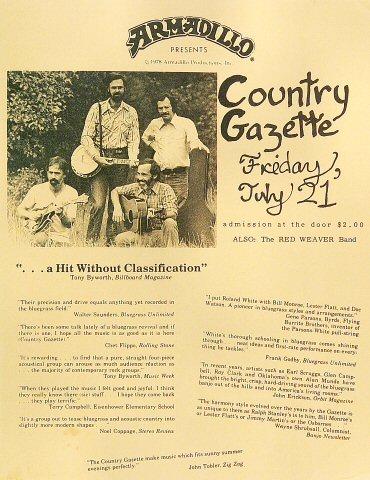 Country Gazette Handbill