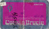 Cousin Brucie Backstage Pass