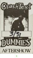 Crash Test Dummies Backstage Pass