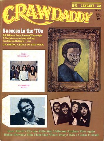 Crawdaddy Magazine January 1973 Magazine