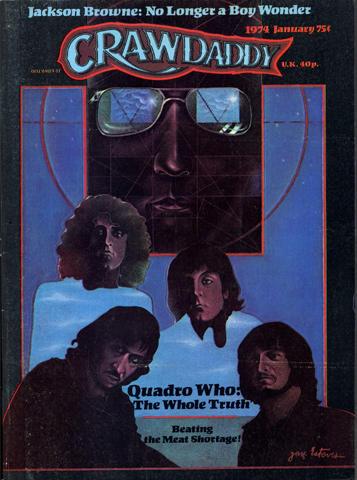 Crawdaddy Magazine January 1974 Magazine