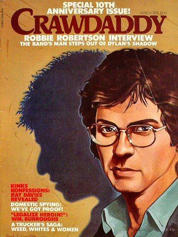 Crawdaddy Magazine March 1976 Magazine