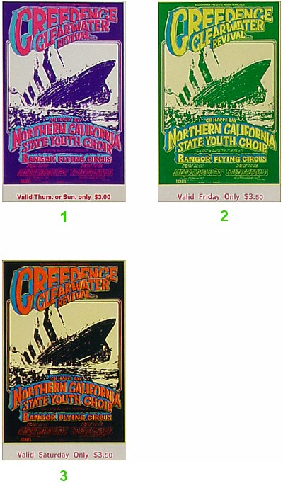 Creedence Clearwater Revival Vintage Ticket