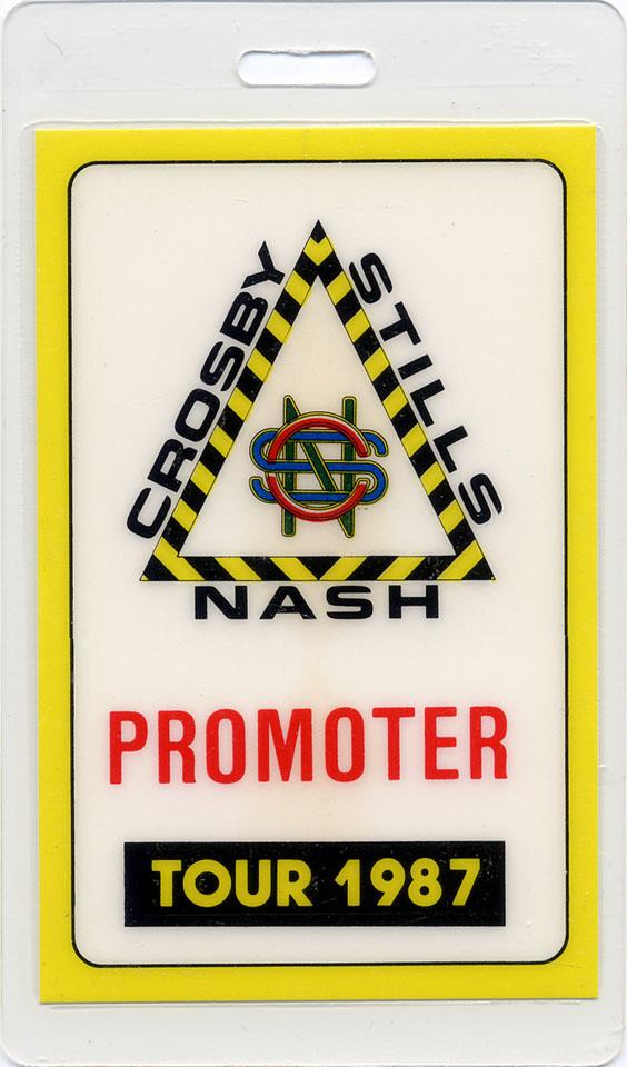 Crosby, Stills & Nash Laminate reverse side
