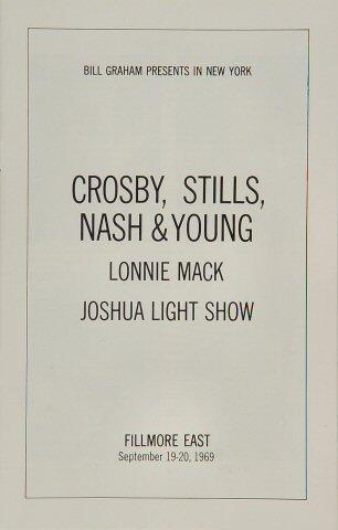 Crosby, Stills, Nash & Young Program reverse side