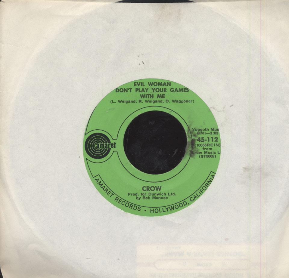 "Crow Vinyl 7"" (Used)"