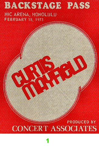 Curtis Mayfield Backstage Pass