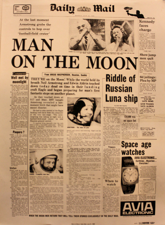 Daily Mail July 21, 1969 Poster
