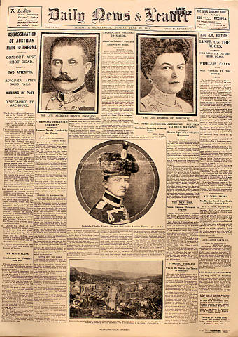 Daily News and Leader June 29, 1914 Poster
