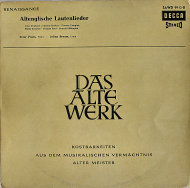 """Das Alte Werk: Altenglische Lautenlieder Vinyl 12"""" (Used)"""