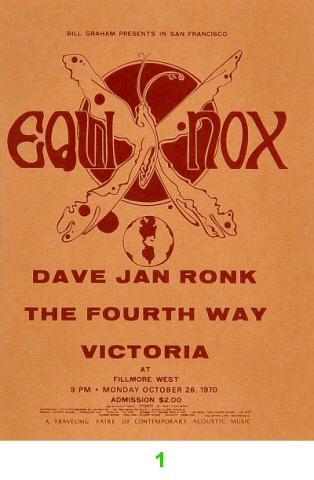 Dave Van Ronk Vintage Ticket