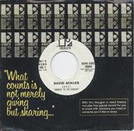 """David Ackles Vinyl 7"""" (Used)"""