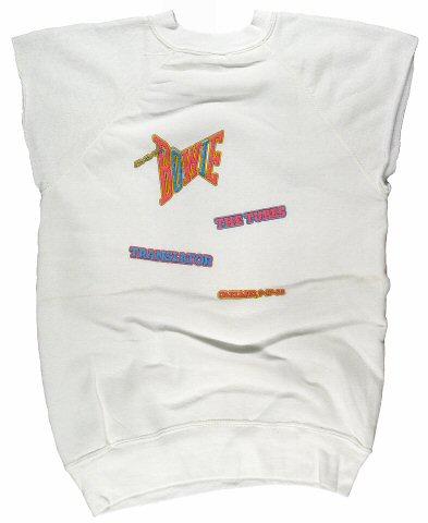 David Bowie Men's Vintage Sweatshirts reverse side