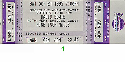 David Bowie Vintage Ticket