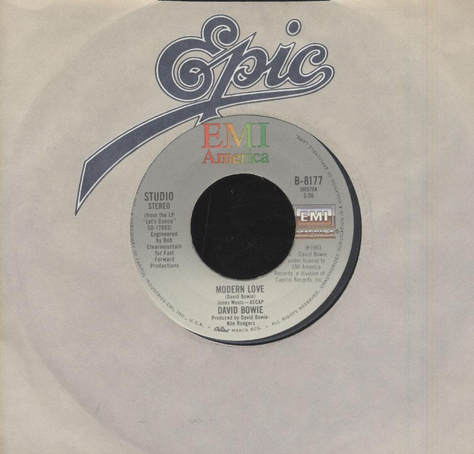 """David Bowie Vinyl 7"""" (Used)"""