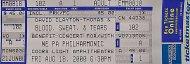 David Clayton-Thomas Vintage Ticket