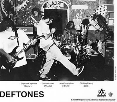 deftones vintage concert promo print 1995 at wolfgang s