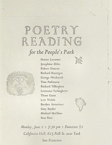 Denise Levertov Handbill
