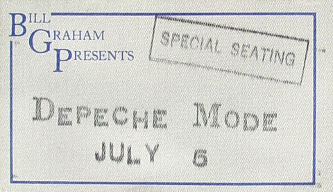 Depeche Mode Backstage Pass