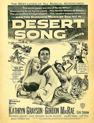 Desert Song Vintage Ad