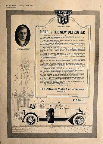Detroiter Six Vintage Ad
