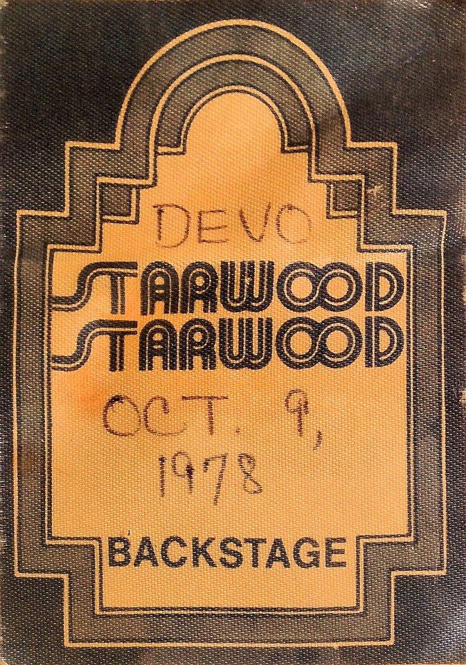 Devo Backstage Pass