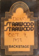 Devo Backstage Pass